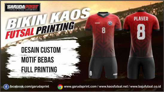 Printing Jersey Futsal Di Kota Banjarnegara Yang Terpercaya