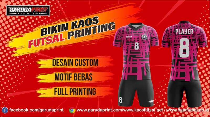 Jasa Pembuatan Jersey Futsal di Kota Pemalang Full Printing