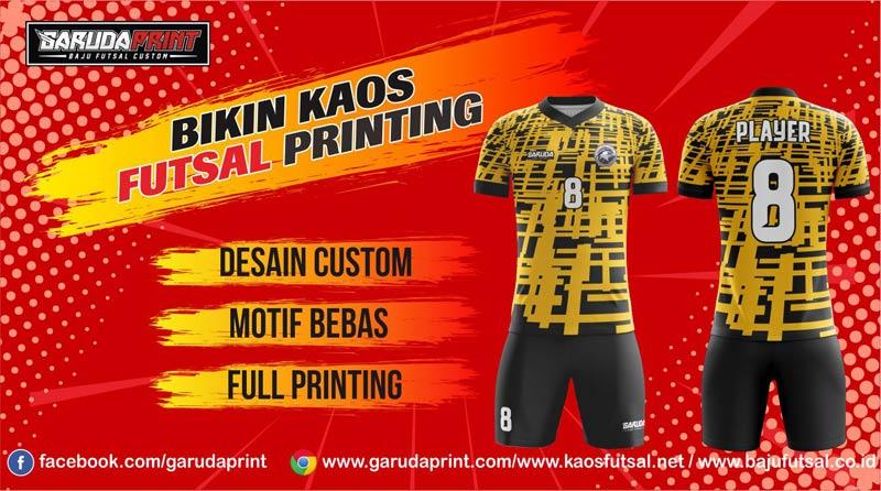Jasa Print Jersey Futsal di Kota Purbalingga Desain Terbaru