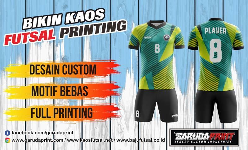 Tempat Bikin Jersey Futsal Full Printing Di Kota Gresik Yang Gratis Desain