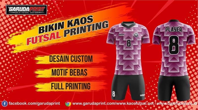 Tempat Koveksi Jersey Futsal Full Printing di Kota Temanggung