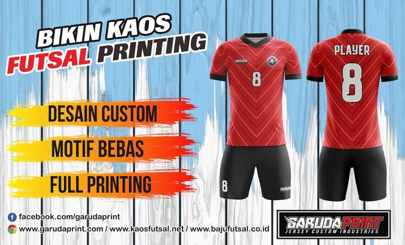 Melayani Pembuatan Baju Bola Futsal Full Printing Di Kota Bangkalan