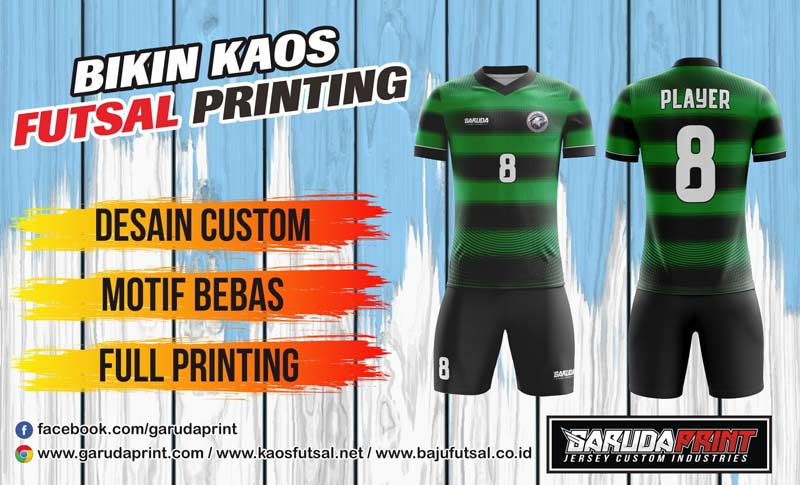 Bikin Jersey Futsal Full Print Di Kota Bangil Desain Bebas