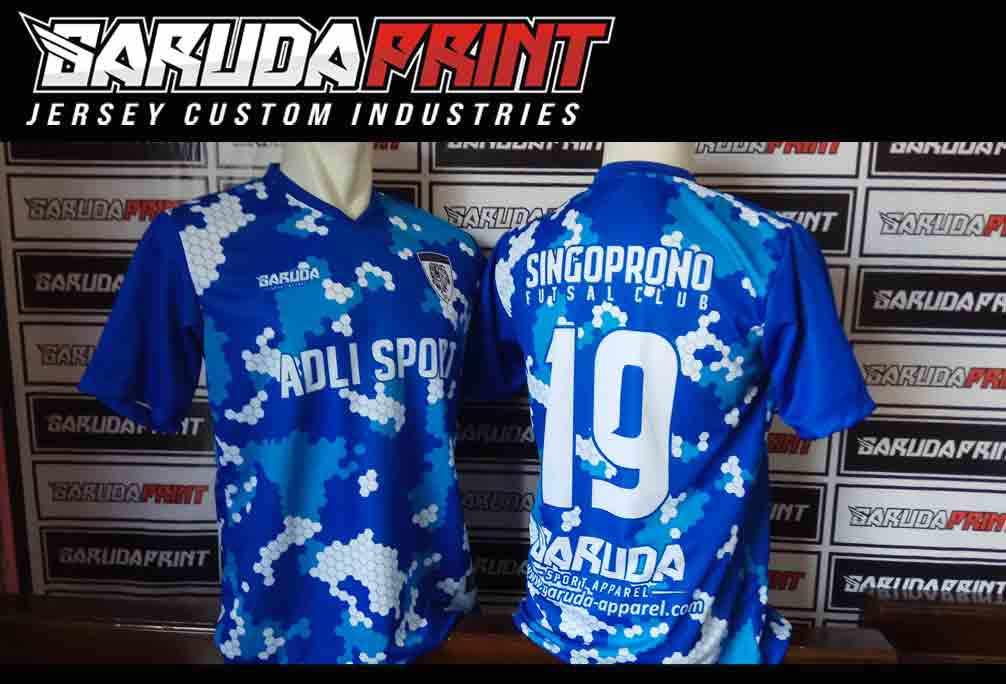 Tempat Bikin Baju Futsal Full Print Di Kota Porbolinggo Bisa Custom Desain