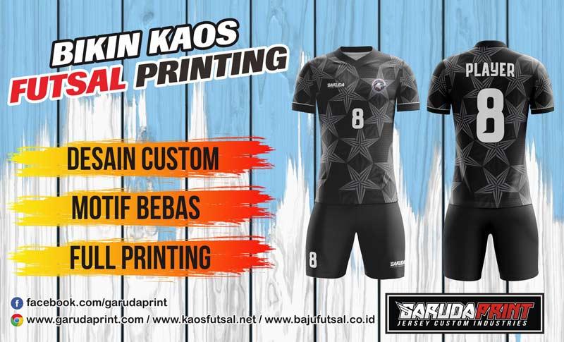 Printing Jersey Bola Futsal Di Kota Rupit Warna Tidak Mudah Luntur