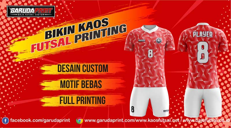 Print Jersey Bola Futsal Di Kota Baturaja Melayani Gratis Desain