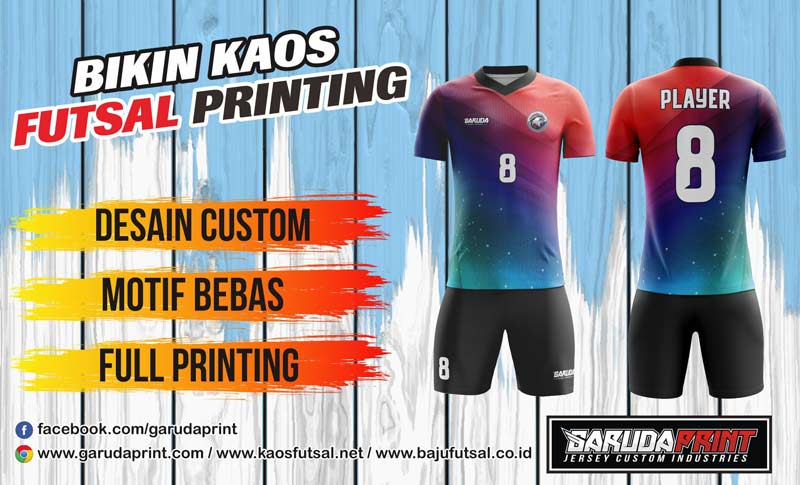 Printing Jersey Futsal Di Kota Sawahlunto Gratis Desain