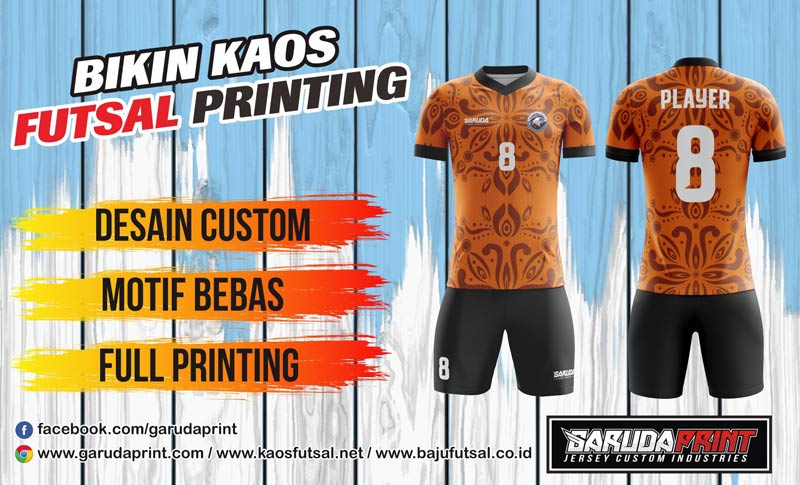 Print Baju Futsal Di Kota Gunung Sitoli Melayani Gratis Desain