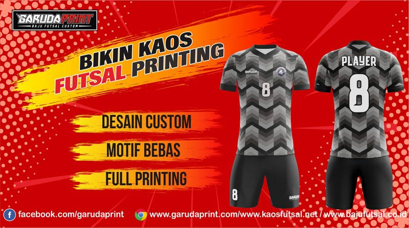 Print Jersey Futsal Di Kota Pematangsiantar Pilihan Desain Paling Lengkap