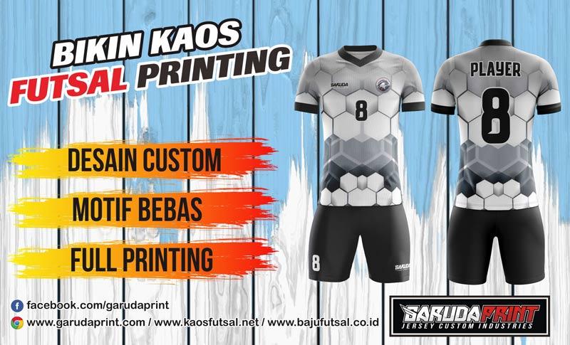 Printing Jersey Futsal Di Kota Tanjungbalai Desain Bebas