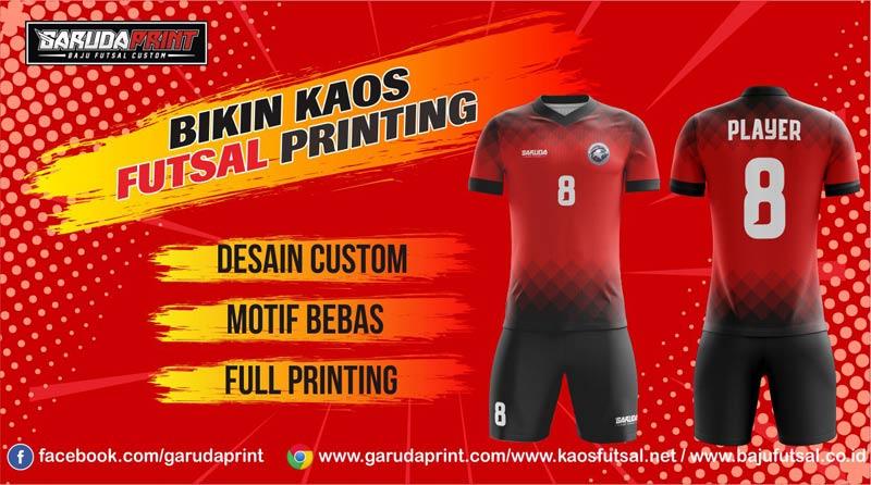 Printing Jersey Futsal Di Kota Gunung Tua Desain Sendiri