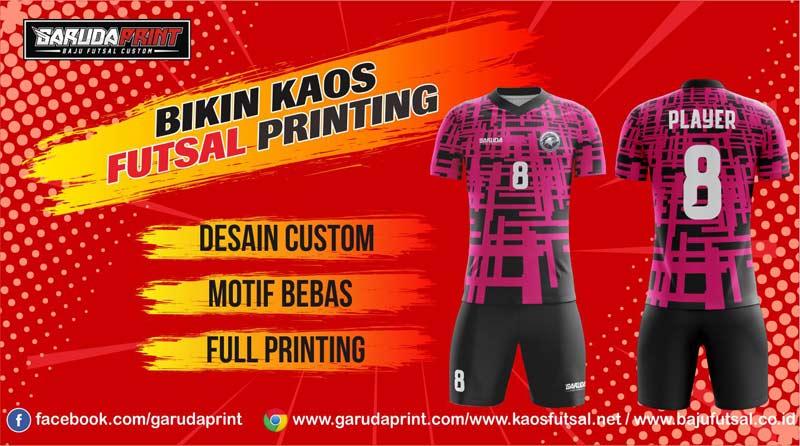 Printing Jersey Futsal Di Kota Raya Gratis Desain