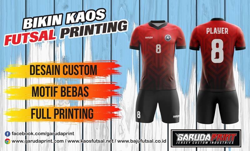 Printing Jersey Futsal Di Kota Sendawar Gratis Desain