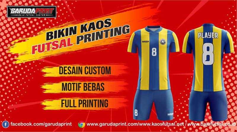 Print Baju Futsal Di Kota Balikpapan Gratis Desain