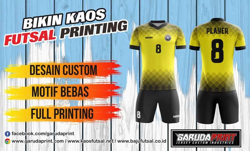 Print Jersey Futsal Di Kota Kuala Kapuas Semua Desain Bisa