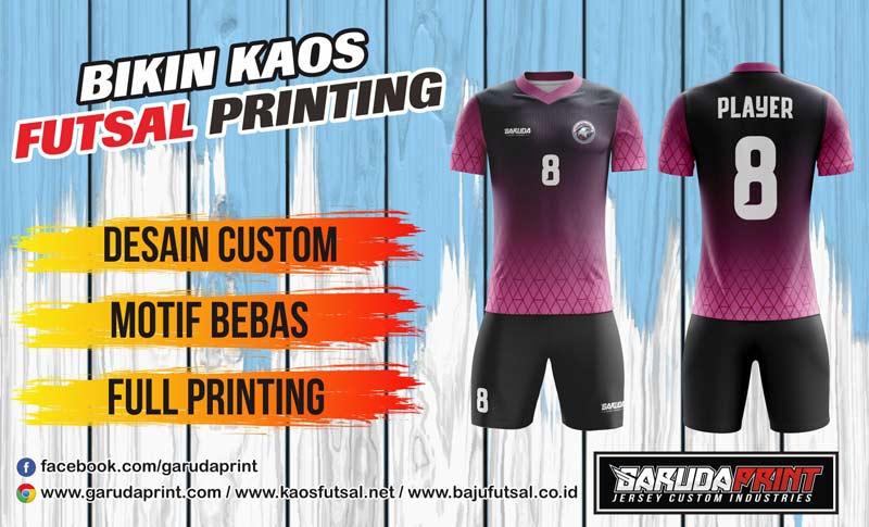 Printing Jersey Futsal Di Kota Pangkalan Bun Gratis Desain
